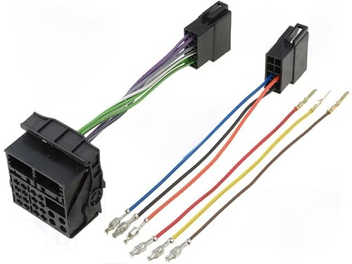 Adaptador para autorádio UNIVERSAL (HOUSING QUADLOCK) -» ISO mac