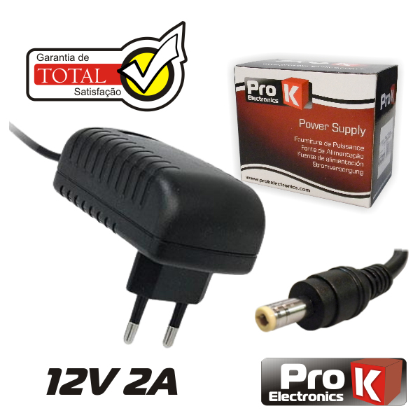 Alimentador 12V 2A - Switching - Ficha 5.5x2.1mm