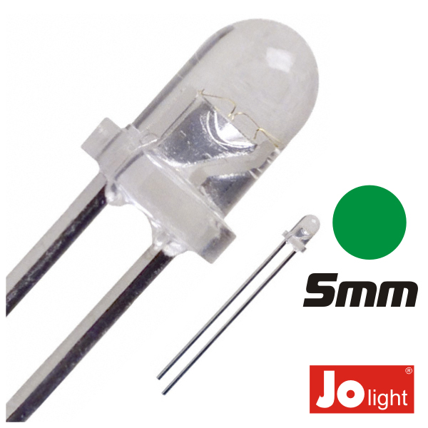 LED 5MM VERDE ALTO BRILHO