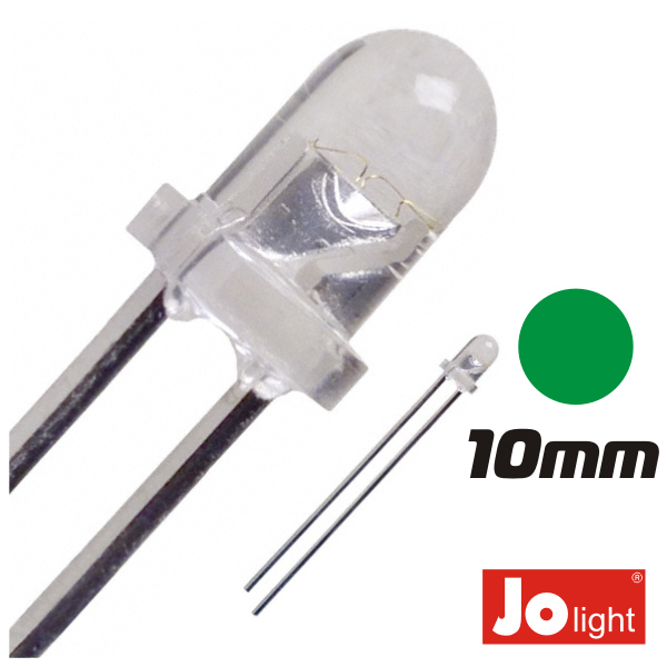 LED 10MM VERDE ALTO BRILHO